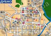 Карта плана центральной части дубна с