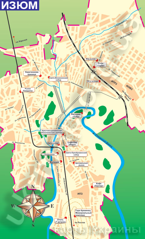 изюм карта города с улицами