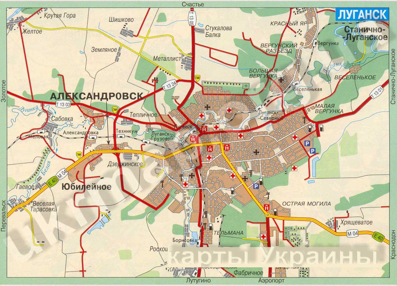 Топографическая Карта Луганска 1 50000