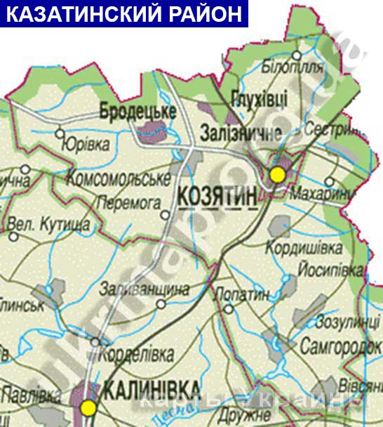 Карта Казатинского района: http://ukrmap.org.ua/Pages/Rayony_oblastey_Ukraine/Kazatinskiy_rayon1.htm
